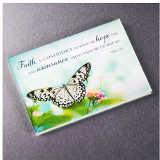 Faith Magnet with Butterfly - Hebrews 11:1