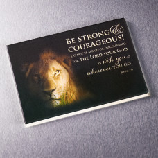 Be Strong & Courageous Magnet - Joshua 1:9