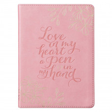 Love in my Heart Soft Pink Faux Leather Journal