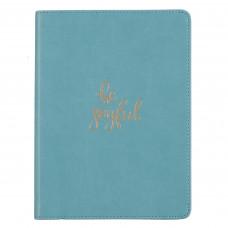 Be Joyful Handy-Sized Faux Leather Journal in Teal