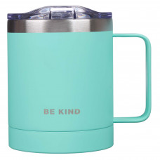 Be Kind Stainless Steel Camp Mug in Teal