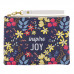 Inspire Joy Faux Leather Zippered Pouch