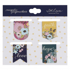 Faith Hope Love Die-cut Petite Magnetic Bookmark Set
