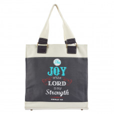 Joy Retro Blessings Canvas Tote bag - Nehemiah 8:10