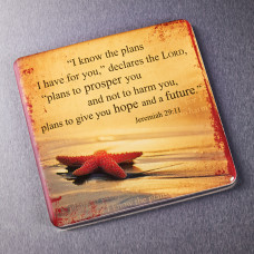 I Know The Plans Epoxy Magnet - Jeremiah 29:11