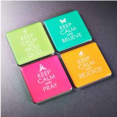 Keep Calm Inspirational Fridge Magnet Set