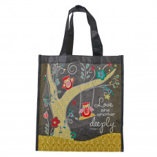 Love One Another Deeply Shopping Bag - 1 Peter 4:8