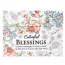 Colorful Blessings Colouring Cards