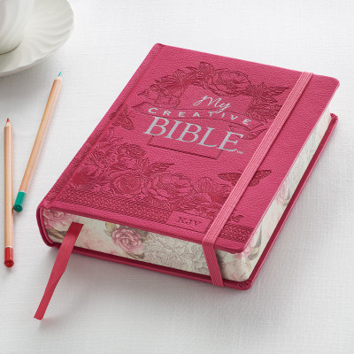Bright Pink My Creative Bible - KJV Journaling Bible