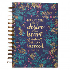 Desire of Your Heart Large Hardcover Wirebound Journal - Psalm 20:4