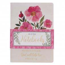 God Will Help Her Notebook Set (3)