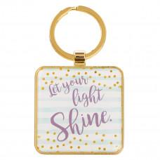Let Your Light Shine - Matthew 5:16 Metal Keyring