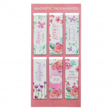 Blossoms of Blessings Magnetic Bookmark Set