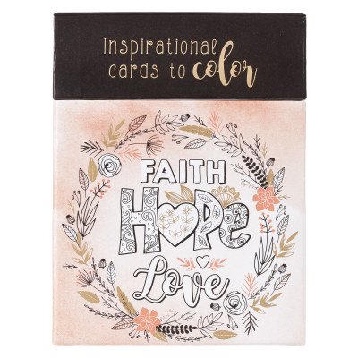 Faith Hope Love Colouring Cards
