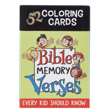 Colouring Cards for Kids: Bible Memory Verses