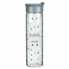 Fearfully and Wonderfully Made Glass Water Bottle - Psalm 139:14