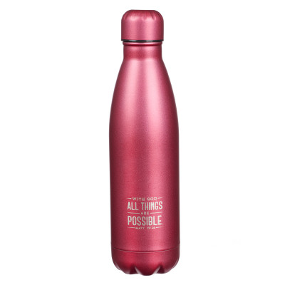 All Things Are Possible Stainless Steel Water Bottle - Matthew 19:26
