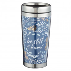 Be Still Polymer Travel Mug- Psalm 46:10