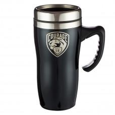 Courage Stainless Steel Travel Mug With Handle - Joshua 1:9