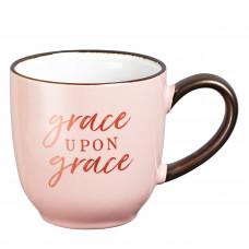 Grace Upon Grace Ceramic Coffee Mug -  John 1:16