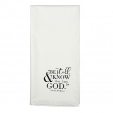 Be Still and Know that I am God - Psalm 46:10 Tea Towel