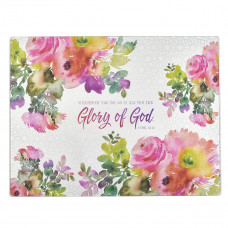 Glory of God Large Glass Cutting Board - 1 Corinthians 10:31