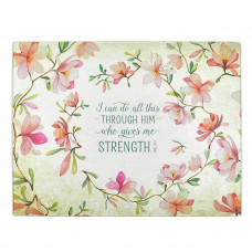 I Can Do All This Large Glass Cutting Board - Philippians 4:13