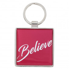 Believe - Matthew 19:26 Metal Keyring