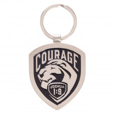 Courage Joshua 1:9 Metal Keyring