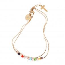 Salvation Beads Double Strand Chain Bracelet