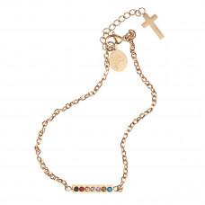 Salvation Cubic Zirconia Bar Chain Bracelet