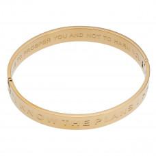 I Know The Plans Hinged Bangle Bracelet