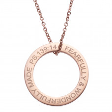 Wonderfully Made Ring Drop Necklace