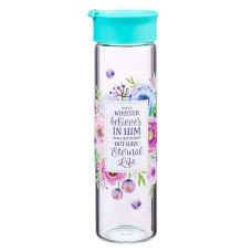 Whoever Believes in Him Glass Water Bottle - John 3:16
