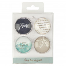 Give You Rest Glass Magnet Set - Matthew 11:28