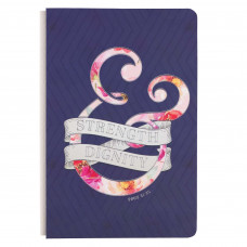 Strength & Dignity Hardcover Journal in Purple - Proverbs 31:25