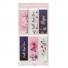 Faith Hope Love Magnetic Bookmark Set - 1 Corinthians 13:13