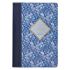 Be Still & Know Blue Paisley Quarter-bound Faux Leather Classic Journal - Psalm 46:10