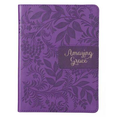 Amazing Grace Purple Faux Leather Journal