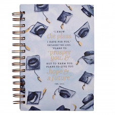 I Know The Plans Large Wirebound Journal for Graduates - Jeremiah 29: 11