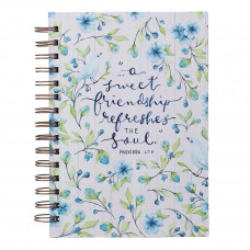 A Sweet Friendship Large Wirebound Journal - Proverbs 27:9