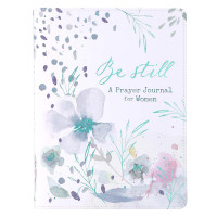 Be Still Faux Leather Prayer Journal for Women