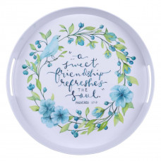 A Sweet Friendship Melamine Serving Tray  - Proverbs 27:9