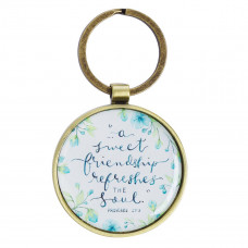 A Sweet Friendship Metal Keyring - Proverbs 27:9