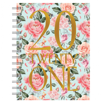 2021 Floral Weekly Planner