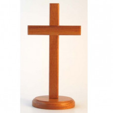 Natural Wood 20cm Standing Cross