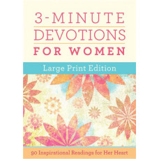 3 Minute Devotions For Women Large In Print