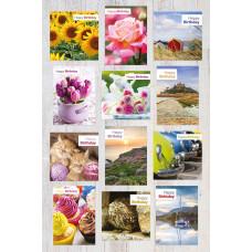 Eleos Photographic Birthday Assortment Box (12 cards)