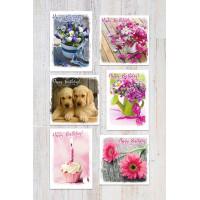 Eleos Photographic Birthday Assortment Box (6 cards)