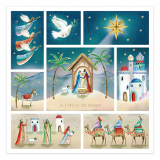 Compassion Charity Christmas Cards - A Child Is Born (Pack of 10)